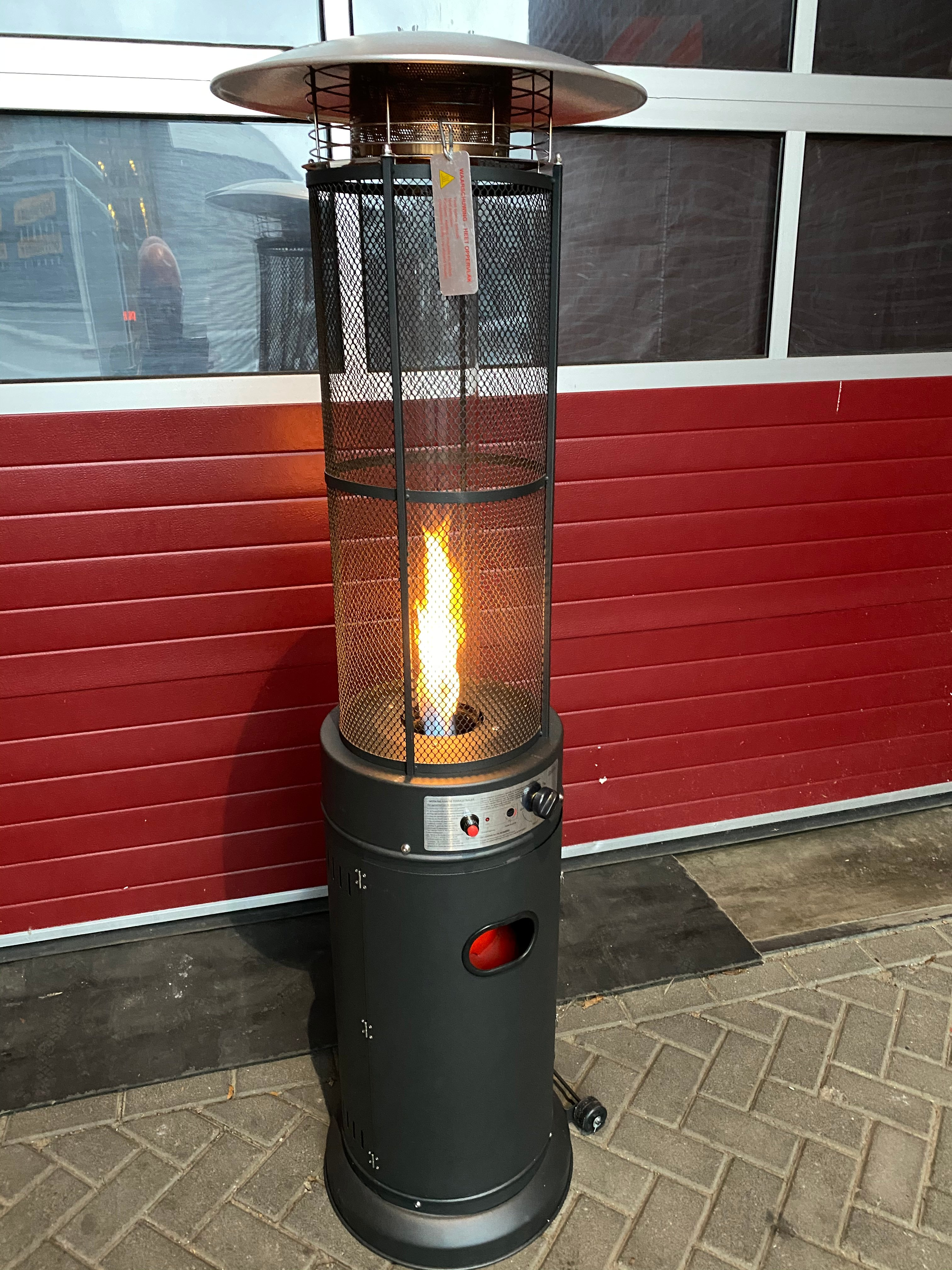 Flame-heaters op gas